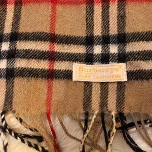 Vintage Burberry Nova Plaid Scarf 100% Cashmere